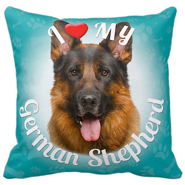 NEW German Shepherd Dog Puppy Lover Decorative Throw Pillow Includes Insert