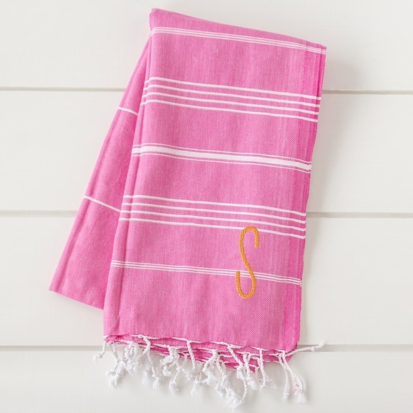 Personalized Dark Pink Turkish Towel