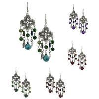 Handmade Bleek2Sheek Wind and Feathers Chandelier Earrings (USA)