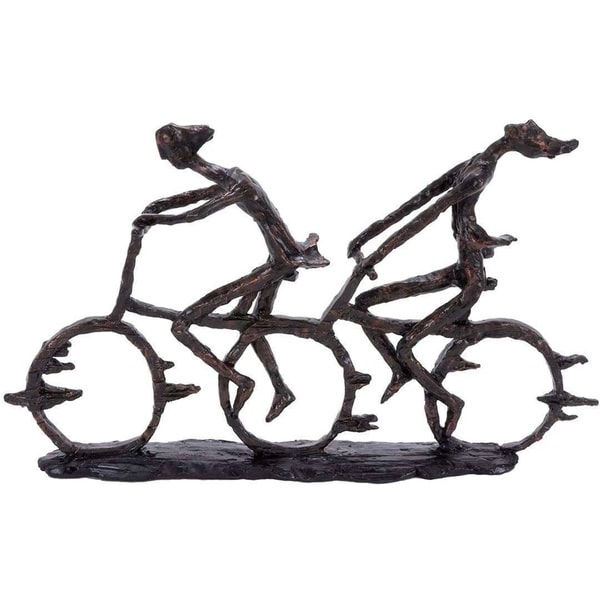 The Curated Nomad Merced Polystone Sports Bike Figurine