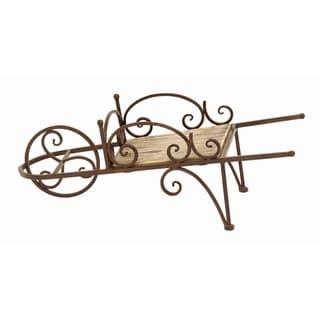 Wood/ Metal Country Wheelbarrow Themed Planter