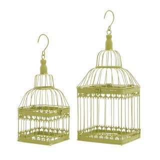 Metal Bird Cages (Set of 2)
