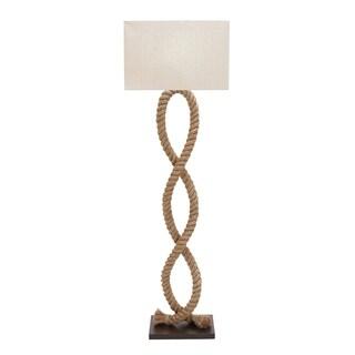 """20"""" x 63"""" Coastal Style Natural Jute Rope Floor Lamp by Studio 350"""