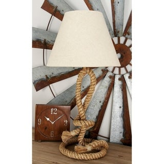 Coastal 26 Inch Twisted Jute Rope and Iron Table Lamp by Studio 350