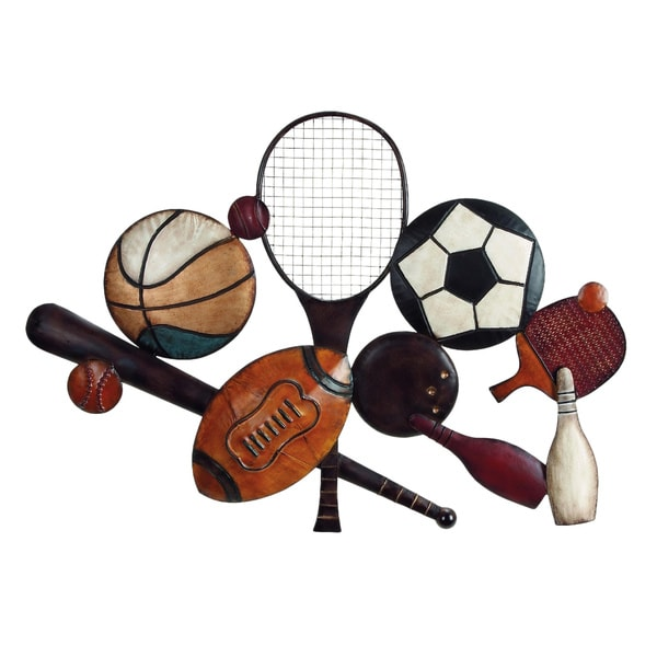 Metal sports special wall decor free shipping today for Home goods decorative accessories