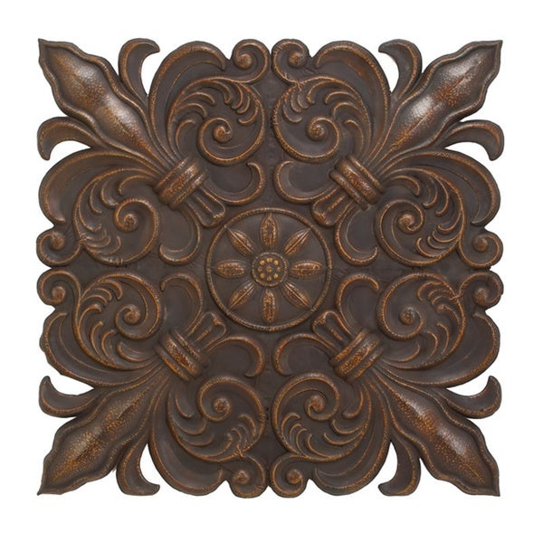Dark Brown Metal Wall Decor - Free Shipping Today - Overstock.com - 17201223