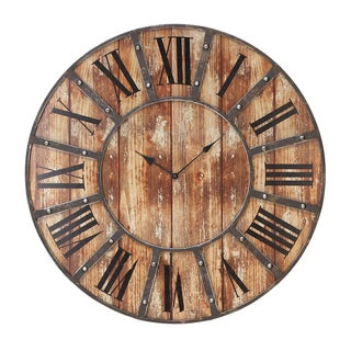 Wood 24-inch Round Clock
