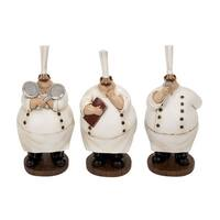 Copper Grove Couturie Polystone Chef Figurines (Set of 3)