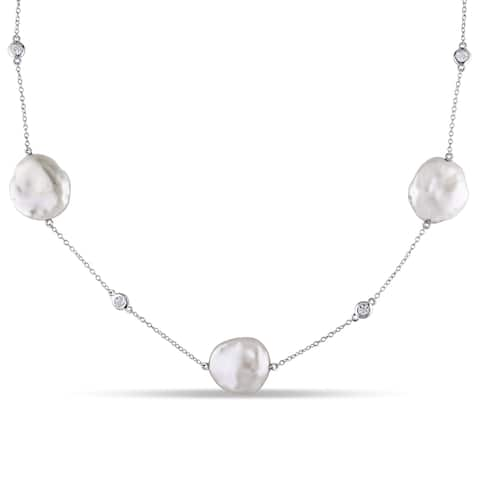 a04a2f9fa5b12 Buy Sterling Silver, Keshi Pearl Necklaces Online at Overstock | Our ...