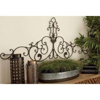 Traditional 59 Inch Arched Scrollwork Metal Wall Decor by Studio 350