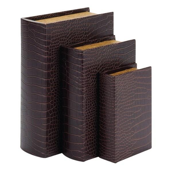 Wood/ Leather Book Box