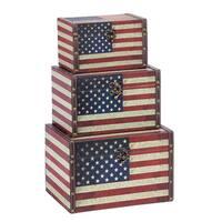 Wood Leather Box