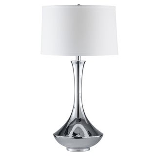 Aladdin Genie-lamp Design Polished Steel Table Lamp