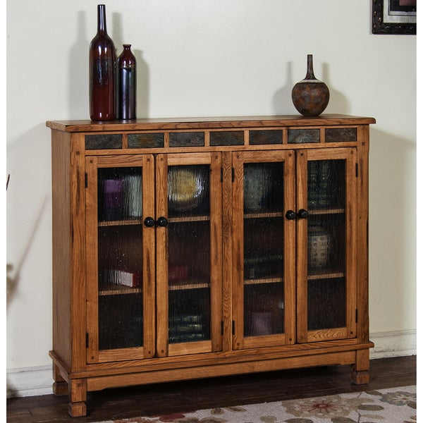Shop Sunny Designs Sedona Bookcase With 4 Doors Free Shipping Today Overstock 10056856