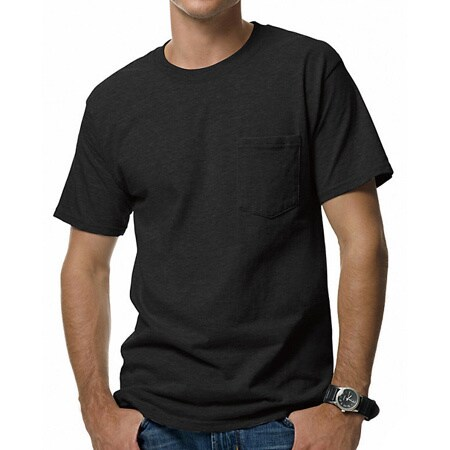 d9feaedc03 Shop Hanes Men s Beefy-T Pocket T-Shirt - Free Shipping On Orders Over  45  - Overstock - 10056859