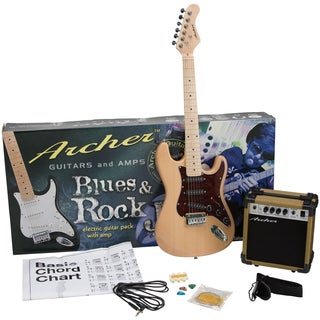 Archer SS10 Blues and Rock Jr. Natural Electric Guitar Package