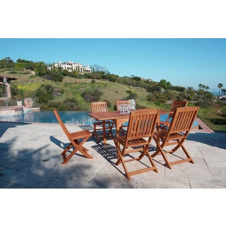 Malibu Eco-Friendly 7-Piece Wood Outdoor Dining Set