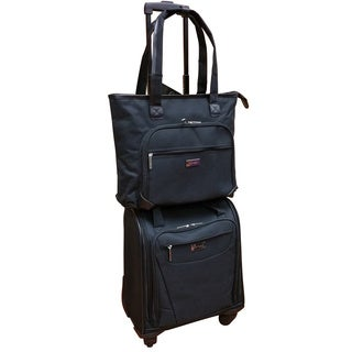Shop Chocolate New York Black 2 Piece Carry On Underseat
