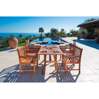 Malibu Eco-friendly 5-piece Wood Outdoor Dining Set
