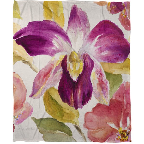 Radiant Orchid - Coral Fleece Throw