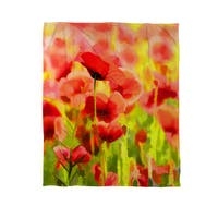 Poppies - Coral Fleece Throw