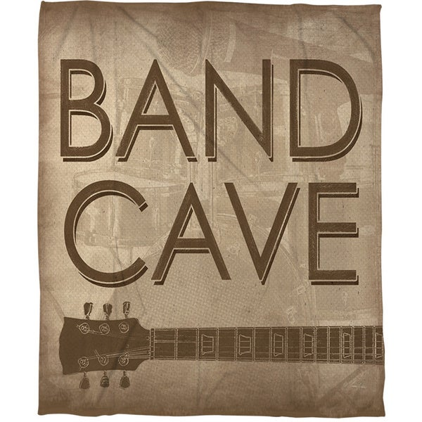 Band Cave Coral Fleece Throw