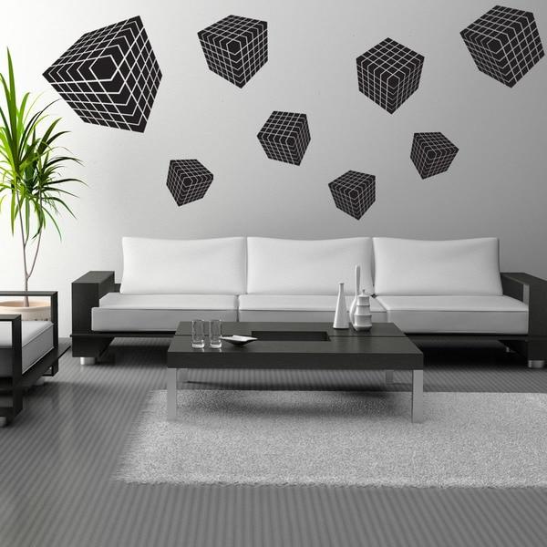 3D Cube Vinyl Wall Decal