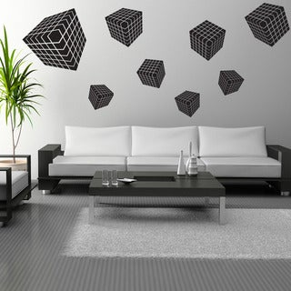 3D Cube Vinyl Wall Decal