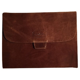 Sharo ip-200  Brown hi-gloss Leather iPad Cover