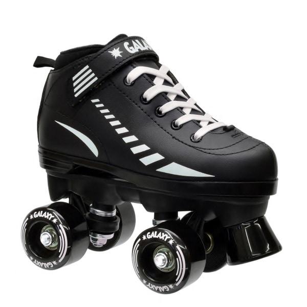 Epic Black Galaxy Elite Quad Roller Skates