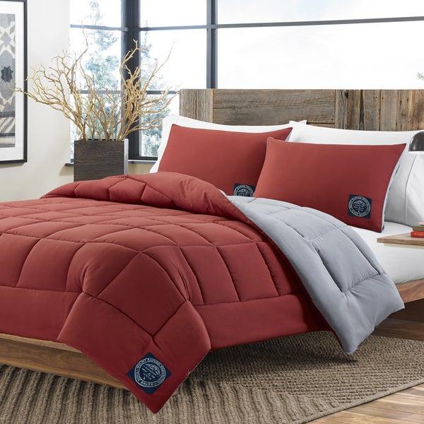Eddie Bauer Flag Red Reversible 3-piece Comforter Set