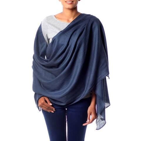 NOVICA Handmade Kashmiri Wool Ultra Light Wrap (India)