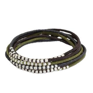 Handcrafted Brass 'Karen Khaki Chic' Bracelet (Thailand)