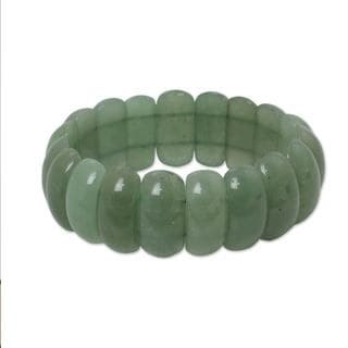 Handcrafted Aventurine 'Naturally Simple' Bracelet (Thailand)