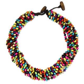 Handmade Littleleaf Wood Trang Belle Necklace Thailand