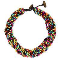 Handcrafted Littleleaf Wood 'Trang Belle' Necklace (Thailand)