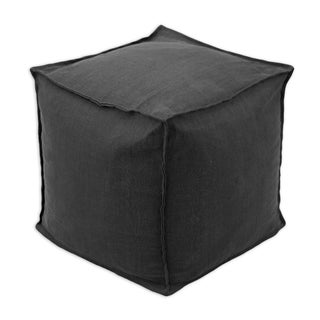 Somette Circa Solid Night Square Ottoman