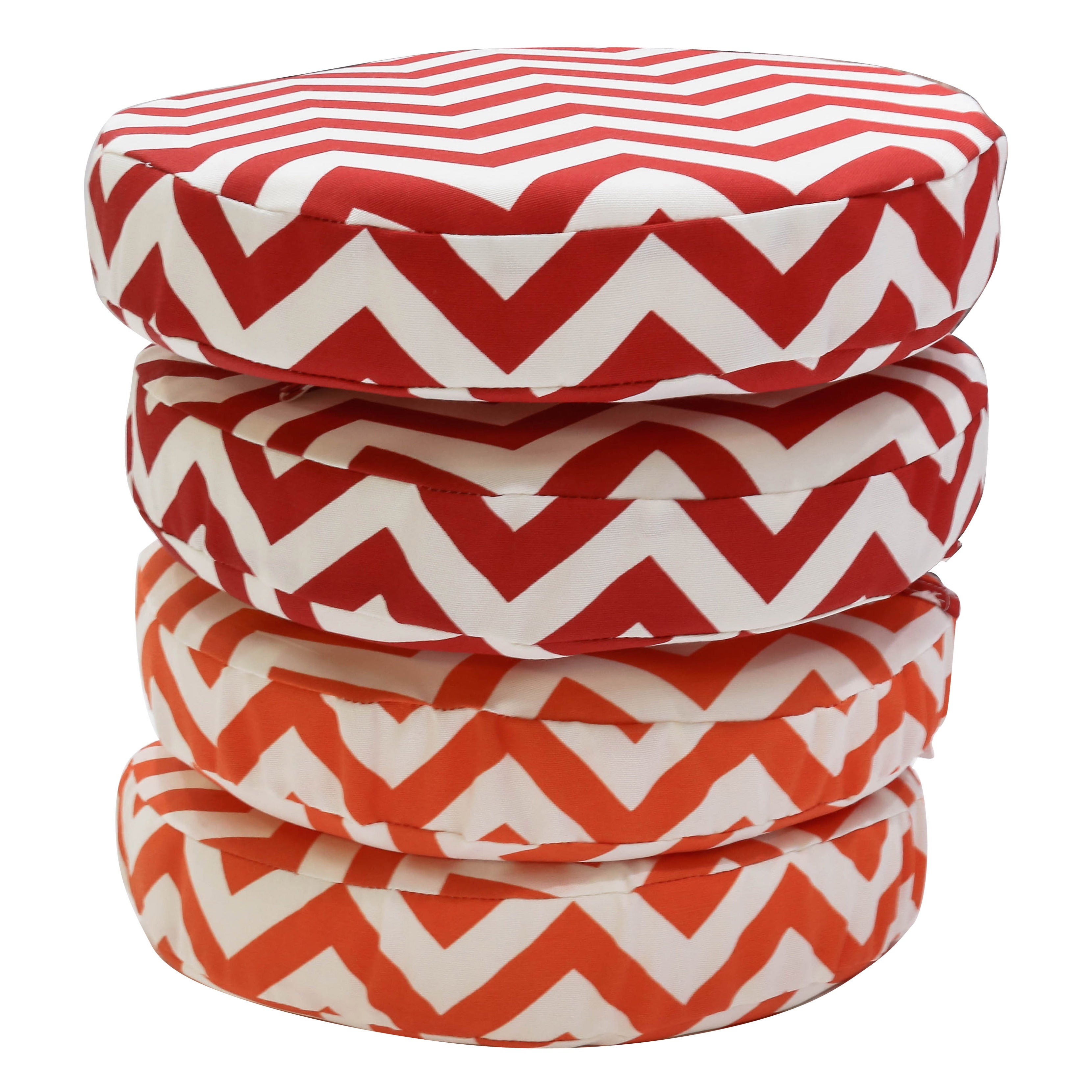 Shop Black Friday Deals On Somette Chevron 14 Inch Round Bistro Cushions Set Of 2 Overstock 10059228
