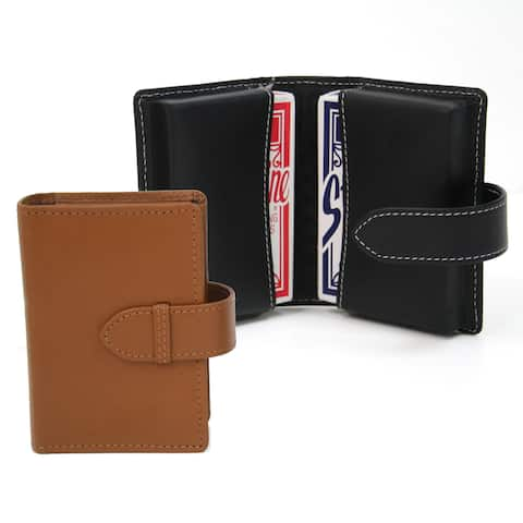 Royce Genuine Bonded Leather Double Playing Card Deck Case