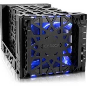 Icy Dock Black Vortex MB174U3S-4SB Drive Enclosure Serial ATA/600 - eSATA Host Interface External - Black