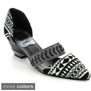 Bumper DOLLY-06 Women's tribal print Slip On Low Heels