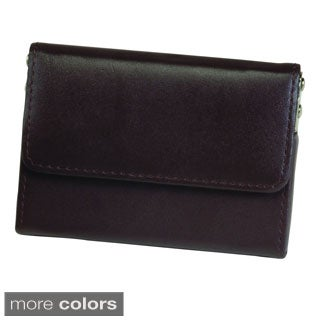 Royce Genuine Leather Horizontal Framed Card Case