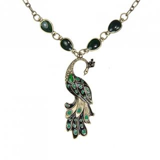 Handmade Green Peacock Necklace (China)