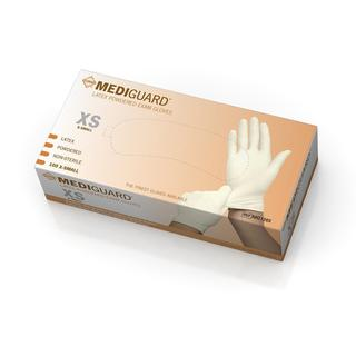 Medline MediGuard Powdered Latex Exam Gloves (Case of 10 Boxes)