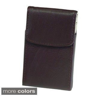 Royce Leather Genuine Leather Vertical Framed Card Case (2 options available)
