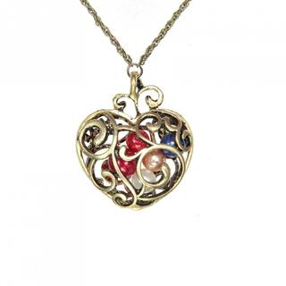 Handmade Copper Alloy Heart Necklace (China)