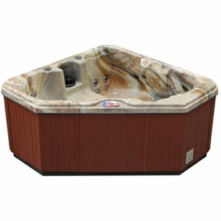 American Spas 2-person 28-Jet Triangle Spa with Multi Color Light