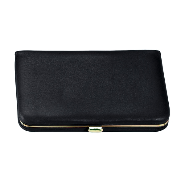 Royce Genuine Leather Framed Business Card Case