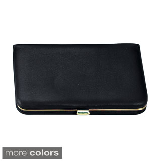 Royce Genuine Leather Framed Business Card Case (More options available)