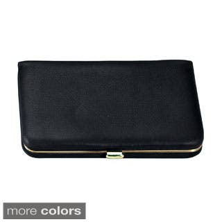 Business card holders for less overstock royce genuine leather framed business card case more options available reheart Images